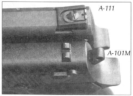 На пистолетах А-111 и